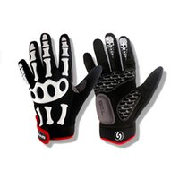claw gloves - Skeleton Ghost Claw Cycling Gloves Silica Gel Suspension Bicycle Gloves for Women and Men Nylon Material Hot Sale COOL4B