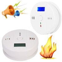 Wholesale CO Carbon Monoxide Poisoning Smoke Gas Sensor Warning Alarm Detector Tester LCD Home Security Safe Fire Warning Alarm Monitor