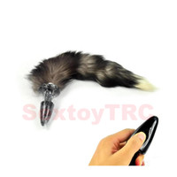 adult novelty sex toy - Anal Plug with Sexy Fox Tail BDSM Sex Toys Small Large Anus Butt Intruder Beads for Cosplay Roleplay Sex Plays Fetish Adult Novelty