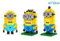 lego - Despicable Me Dave Kevin Minion Types Diamond Building Blocks LOZ Blocks Action Figures Toys Good Gift for Kids