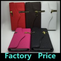 pocket books - PU Leather Zipper Wallet Magnetic Flip Book With Card Holder Phone Bag Case For Samsung Galaxy S6 S5 Cover Back