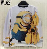 banana animations - Mikeal Fashion desgined sweatshirt for men women d hoodies cute printed Animation holding banana cartoon hoody men W162