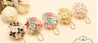 Wholesale Pink Blue Flower Four Leaf Stud Earrings Clove Designer New Spring for WomensPure and lovely