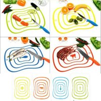 Wholesale 4 Drop Shipping Flexible Ultra Thin Kitchen Tool Fruit Vegetable Cutting Chopping Board Mat