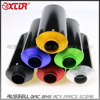 bike cnc - 38mm Hole Diameter CNC EXHAUST MUFFLER For SSR Thumpstar LiFan YX SDG KLX110 KLX BBR Most of Dirt Pit Bike