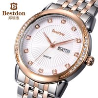 authentic designer watches - Authentic Bestdon classic business designer quartz watch men dress diamond fashion rose gold watches famous wristwatches