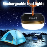 Wholesale SUNREE CC CREE R5 W LED Light USB IPX5 Rechargeable Camping Lamp Portable Lantern with mAH Battery LEG_702