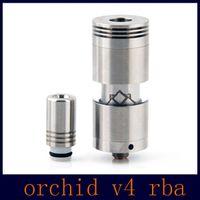 Cheap Best RBA Orchid V3 V4 Atomizer Big Capacity Airflow Control Rebuidable Atomizer vs Kayfun Nano Taifun GT RDA Atomizers DHL Free