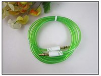 audio common - Audio cable Common color crystal clear audio cable AUX car audio stereo line headed cable
