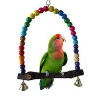 Wholesale Wooden Bird Parrot Swing Toys Parakeet Cockatiel Lovebird Budgie Cage Hanging Toy