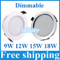 bathroom cabinets free shipping - W W W W Dimmable Led Recessed Light SMD Ultra Bright Led Downlights For Cabinet Lighting AC V