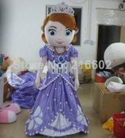 Cheap EVA,Hot sale new design adult mascot costume princess Sofia adult Sofia the first mascot costume free shipping