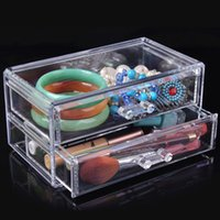 plastic storage shelf drawers - Quality transparent cosmetic storage box plastic drawer shelf cabinet desktop storage rack1501