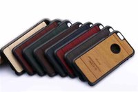 wood - iPhone S Case Wood Grain Luxury PC Leather Hybrid Phone Back Cover For iPhone S S S Plus S
