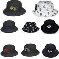 Wholesale HOT Brand New DOPE Buckets hats Cloches Fisherman Hat Cap Summer Hats Man s Woman s Travel Caps High Quality many styles cap Free