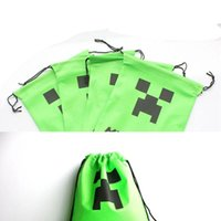 Wholesale 27 cm new creative Minecraft Creeper Storage packet Minecraft bags Storage bags environmental Minecraft Creeper