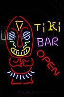 aboriginal arts - MN69 Ti Ki Bar Cocktails Open Aboriginal Man neon sign lights quot x24 quot for store display party lights advertising art