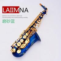 alto saxophone blue - France Lehmann Alto Sax E flat Sax matte blue Saxophone original price of shipping