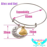 Cheap Alex&Ani antique silver plated simple wiring Alex and Ani Initial crystal strength charms bead Bangles luckly bracelet Jewelry for famlily
