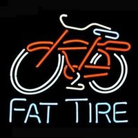 big red tires - 17 quot x14 quot Big Fat Tire Bicycle Bike Logo design Real Glass Neon Light Signs Bar Pub Restaurant Billiards Shops Display Signboards