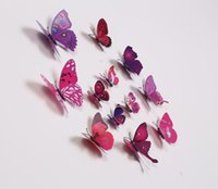 Wholesale wall stickers D PVC butterfly sticker colours set beauti your living room bedroom