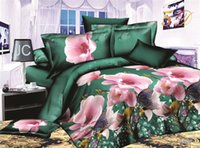 Wholesale 3D Oil Painting Bedding Sets Bedcover Love Flowers Style Twill Thickening Bedding Bed Sheet Duvet Cover Pillowcase Home Textile Quilt