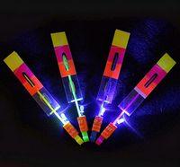 toy helicopter - Newest toy LED Amazing arrow helicopter Flying umbrella Space UFO LED arrow helicopter