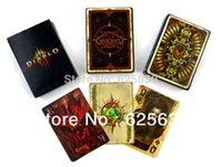 Wholesale 2014 hot sale Official original World of Warcraft Wow theme beautiful poker for favor gift favor Board Game