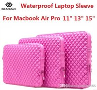 Wholesale 20pcs hot Fashion Waterproof Laptop Sleeve Laptop Bag Free Keyboard Cover Neoprene Notebook Case For Macbook Air Pro cheap