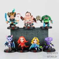 Wholesale 7pcs Set Game DOTA Kunkka Lina Pudge Queen Tidehunter PVC Action Figures Collection Toys
