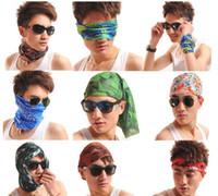 Wholesale 50pcs color Seamless Bandanas Multi Scarf Headwear Hair Band Men Women Outdoor Cycling Wrist Head Turban Scarf Headgear Kerchief cm