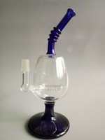 big glass wine - Goblet Bong Big Inline Perk With mm Male Joint Red Wine Thick Glass Water Pipes Of Rig
