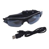 ¡¡¡Caliente!!! Gafas de sol para TF SD Mini DVR Cam Gafas 640 x 480 Gafas de sol DV cámara exterior de audio digital de vídeo videocámara grabadora de