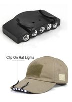 Wholesale Easy To Carry Mini LEDs Cap Lamp Clip On Hat Lights LED Brim Lamp Battery For Outdoor Fishing Camping