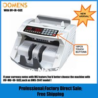 Wholesale NEW Banknote Money Counter with UV IR SIZE Detection DMS S Suitable for Multi Currency Cash Counting Machine