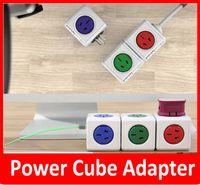 Wholesale Power Cube Allocator Adaptor USB Ports Charger Sockets USB power socket magic cube plug High Quality Green