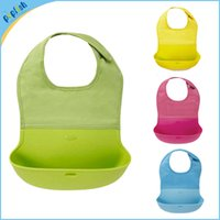 baby plastic bib - new silicone baby bibs infant feeding baby kid bib washable bib waterproof slabber dribble plastic bibs