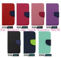 Para Alcatel One Touch Elevate 5017B cartera de cuero del tirón del soporte de la cubierta del teléfono móvil para Alcatel One Touch Elevate 5017E