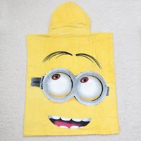 Wholesale 50pcs Despicable Me cartoon children Minions cloak towel in Europe and America hot selling Cotton soft beach towels