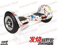 Wholesale Self balance unicycle Inch tire Smart Self Balancing scooter Electric unicycle with LED two wheel skateboard Hip hop graffiti flame3style
