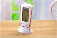 Wholesale LED Back light Square Digital Alarm Clock Multi function Music Calendar Thermometer Clock Y70 DA0937 M5