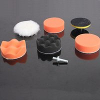 Wholesale 6 Set Buffing Pad Auto Car Polishing Wheel Kit With M10 Drill Adapter Buffer High Gross mm NEW