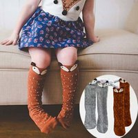 baby girl boy images - HOT Kids Lovely D Knee High Fox socks Baby Boy Girl Leg Warmers stocking suitable for Y Cotton Animal image M014