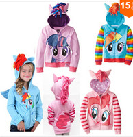 coats and jackets - 2015 new Retail Autumn winter my little pony kids boys and girls jackets lovely girl Zipper Coat Hooded Jacket little girl baby clothes