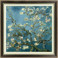 apricot types - Silk Cotton Van Gogh Apricot Oil Painting Cross Stitch Full Embroidery Knitting Kits Bedroom Mural Entrance corridor Living Room