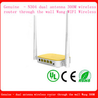 Wholesale Genuine N304 dual antenna M wireless router through the wall Wang WIFI Wireless Computers Networ Networking Communications Routers