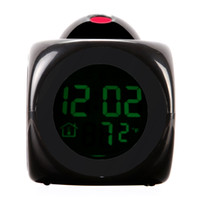 lcd talking alarm clock - LCD Digital Talking Alarm Clock Thermometer C F Desktop Table Despertador Weather Station Electronic Clocks