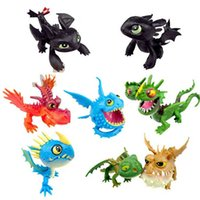 Wholesale New Arrival How to Train Your Dragon PVC Action Figures Toy Doll Night Fury toothless dragon set EMS Free