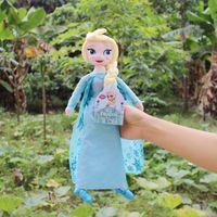 disney wholesale - Newst Disney Frozen Elsa Anna princess stuffed Soft plush Hot Moive Toys For Gifts
