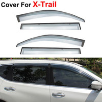 awning style windows - 4pcs Awnings Shelters Window Visor For Nissan X Trail Rogue Stickers Car Styling Accessories Guard Rain Shield